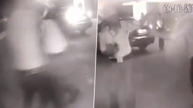 Delhi: Hospital Security Guard Beaten up by 4 People Over Parking Dispute; Watch Video