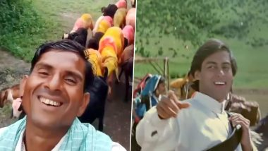 Salman Khan Or The Viral Shepherd? Who Smiled Better in This Viral TikTok Video Made On Hum Apke Hain Kaun's Famous Song