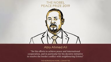 Nobel Peace Prize 2019 Winner: Ethiopian Prime Minister Abiy Ahmed Ali Awarded the Prize for His Efforts on Peace and International Cooperation