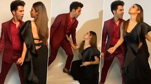 Rajkummar Rao Goes Coy, Mouni Roy Keeps It Sexy As They Dance On Govinda-Chunky Panday's 90s Track Laal Dupatte Wali (Watch Video)