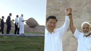 PM Narendra Modi Dons Veshti During the Second Informal Summit With Chinese President Xi Jinping at Mamallapuram, View Pics
