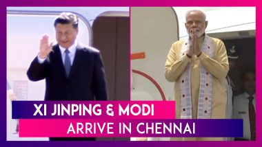 Chinese President Xi Jinping & PM Narendra Modi Arrive In Chennai For 2nd Informal Summit