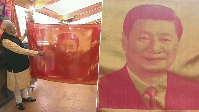 Mamallapuram Summit Day 2: PM Narendra Modi Gifts Hand-Woven Silk Portrait to Chinese President Xi Jinping