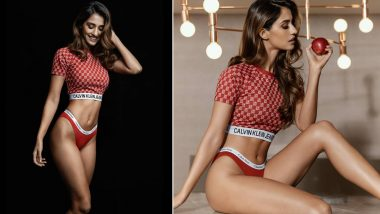 Disha Patani in Red Calvin Klien Underwear Paired with Offbeat Crop Top Is a Feast for the Eyes! (View Pic)