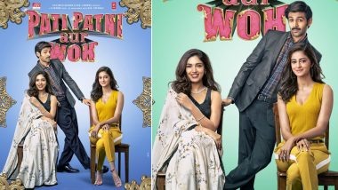 Pati Patni Aur Woh: Kartik Aaryan's Chintu Tyagi Shuttles Between 'Patni' Bhumi Pednekar and 'Woh' Ananya Panday on New Posters