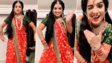 Bhojpuri Actress Aamrapali Dubey Takes Up #TheBalaChallenge in a Traditionally Decked Up Avatar and Aces It (Watch Video)