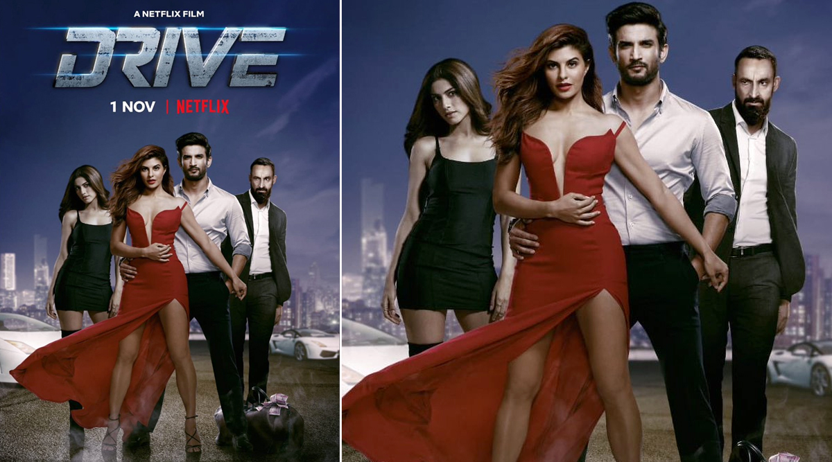 Drive: Sushant Singh Rajput and Jacqueline Fernandez Go Glamorous for the New Poster, Trailer All Set to Release on October 18