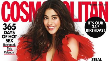 Janhvi Kapoor in her Red Dress Looks like a Work of Art on Cosmopolitan's New Magazine Cover (View Pic)