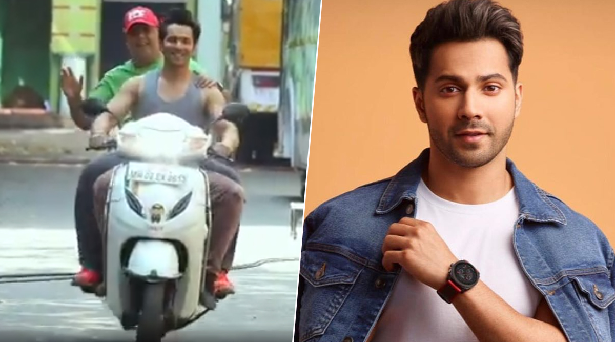 Varun Dhawan Responds to Twitterati Who Called Him Out for Not Wearing a Helmet in His Latest Video from the Sets of Coolie No 1