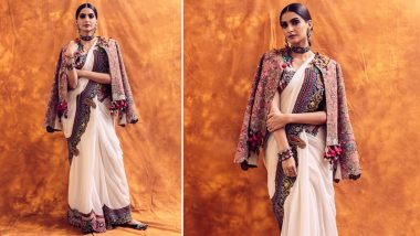 Yo or Hell No? Sonam Kapoor's Anamika Khanna Saree Paired with a Boho Jacket