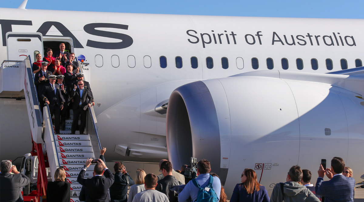 Qantas Scripts History! World's Longest Passenger Flight #QF7879 From New York to Sydney Lands After Being in Air for Over 19 Hours