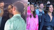 Priyanka Chopra Cheers for Husband Nick at the Jonas Brothers Concert But it is the Duo Stealing an Adorable Kiss That Fans Can't Get Over (View Pics and Videos)