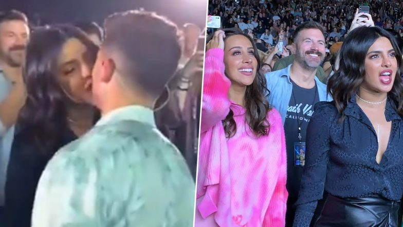 Image result for latest images of priyanka chopra did kiss to nick jonas on alive concert
