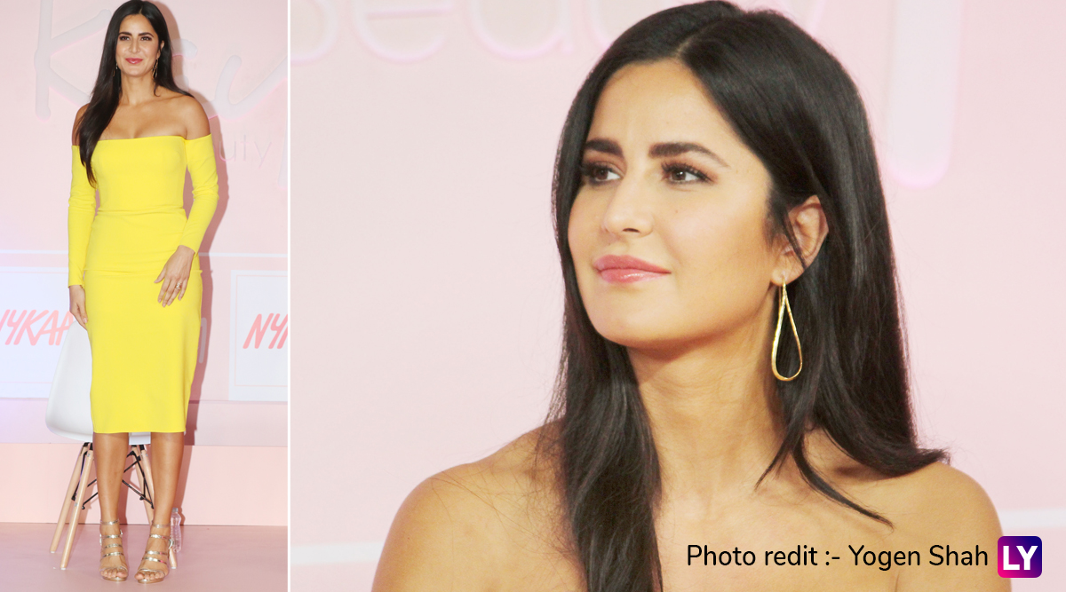 Yo or Hell No? Katrina Kaif 's Bright Yellow Dress for the Launch of her Makeup Line 'Kay by Katrina'