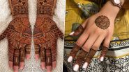 Latest Mehndi Designs For Bhai Dooj 2019: From Arabic to Indian, Easy Back and Front Mehandi Patterns Sisters Can Try This Bhau Beej