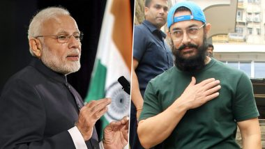 From Calling CM Narendra Modi 'Unpatriotic' in 2005 to Hailing PM Modi As 'Inspiring' in 2019, Aamir Khan Certainly Has Come a Long Way! (Watch Video)
