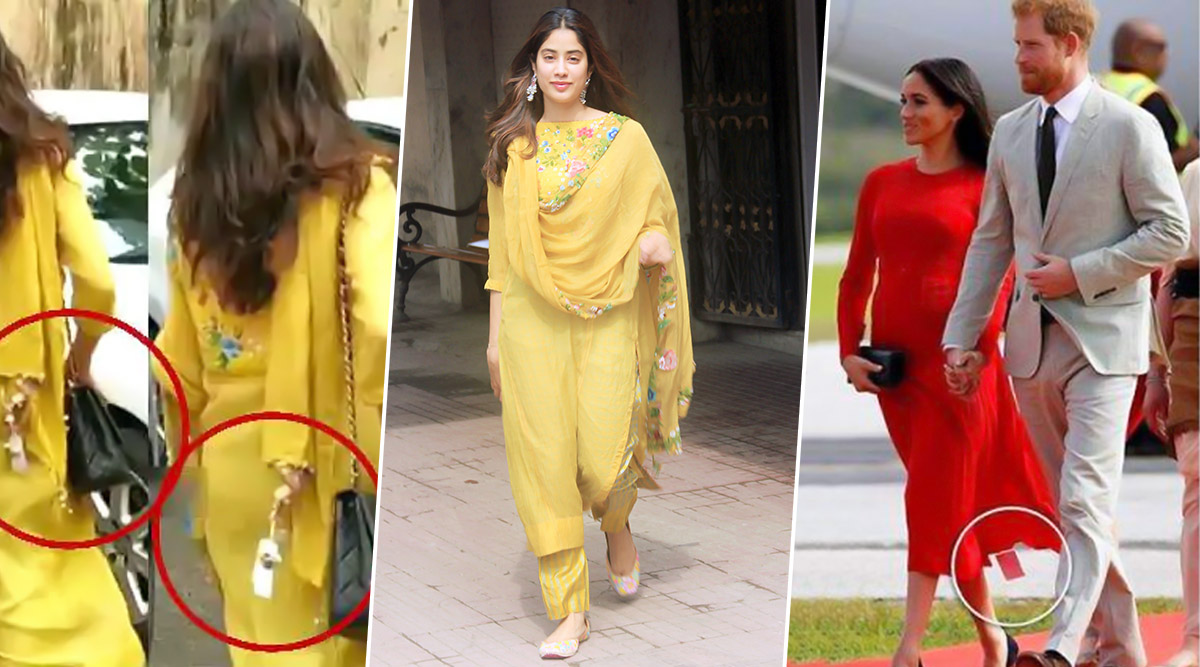 Janhvi Kapoor Had a Meghan Markle Moment! Dhadak Actress' Duppata had its Price Tag On (View Pics)