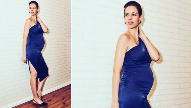 Kalki Koechlin Flaunts Her Baby Bump in a Gorgeous Blue Dress in the Latest Instagram Picture and We are in Love With Her Maternity Fashion