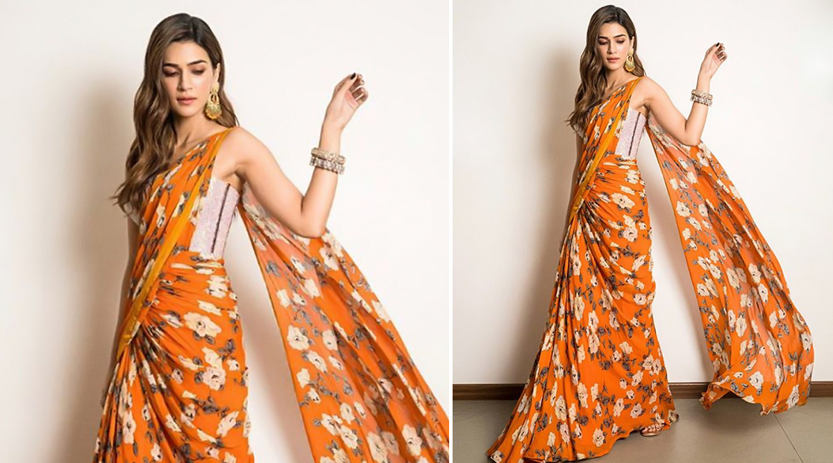 Yo or Hell No? Kriti Sanon's Floral Print Saree by Monish Jaising for Jacky Bhagnani's Diwali Party