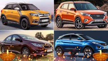 Diwali 2019 Discounts on Cars: Get Up to Rs 1 Lakh on Maruti Vitara Brezza, Hyundai Creta, Honda City & Tata Nexon