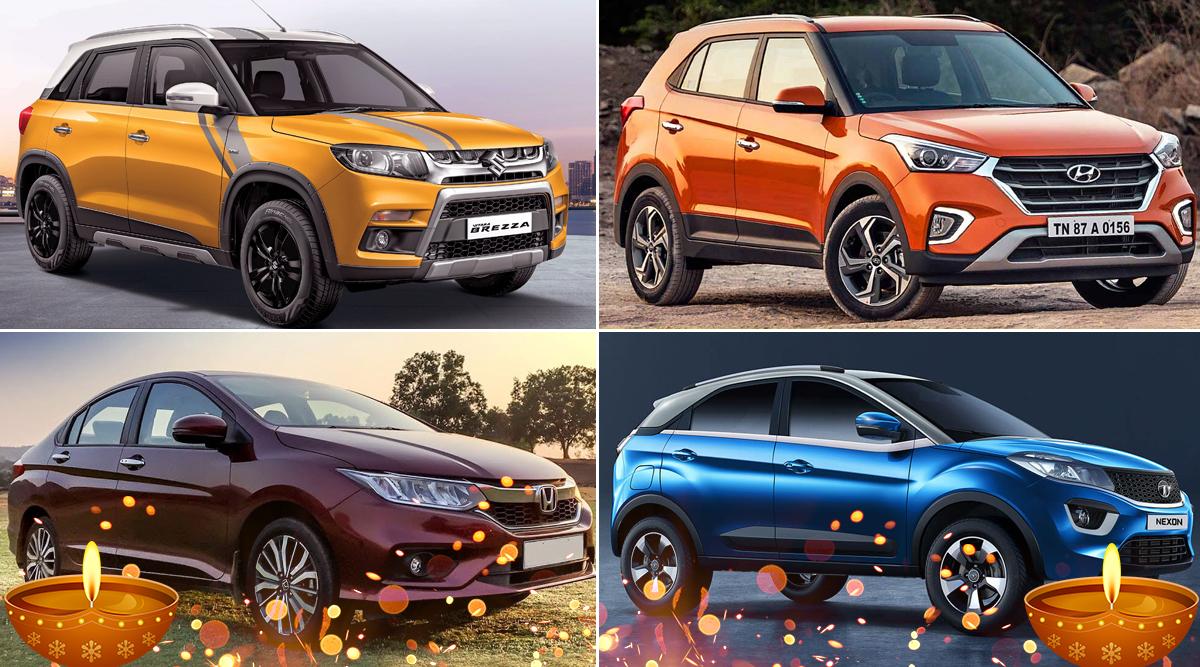 Diwali 2019 Discounts on Cars: Get Up to Rs 1 Lakh on Maruti Vitara Brezza, Hyundai Creta, Honda City & Tata Nexon