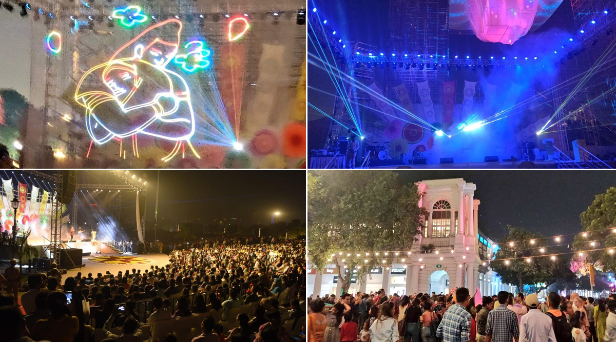 Diwali 2019: Arvind Kejriwal Government Organises Laser Show in Connaught Place to Encourage People Shun Crackers, See Pics