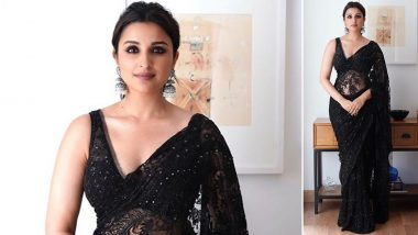 Parineeti Chopra's Hot Look in a Black Lace Saree for Diwali 2019 Has Fans Swooning Over Her! (View Pic)