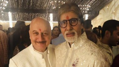Amitabh Bachchan Diwali Party: Anupam Kher Can't Stop Praising Big B for Such a Grand Get-Together (View Pic)
