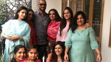 Bhai Dooj 2019: Ahead of India vs Bangladesh 2019 1st T20I, Shikhar Dhawan Spends Quality Time With His Family