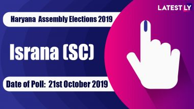 Israna (SC) Vidhan Sabha Constituency in Haryana: Sitting MLA, Candidates For Assembly Elections 2019, Results And Winners