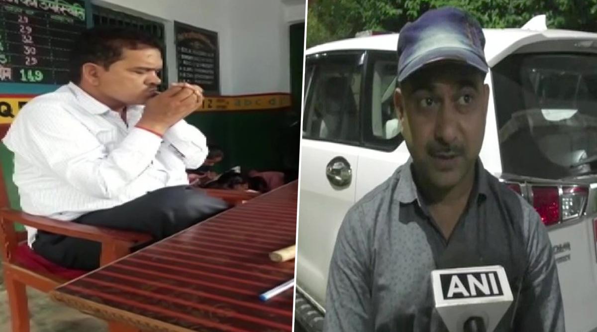 Uttar Pradesh: Primary School Teacher Suspended After Video of Him Smoking Inside Classroom Goes Viral