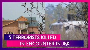 Three Terrorists Killed In Encounter With Security Forces In Jammu & Kashmir