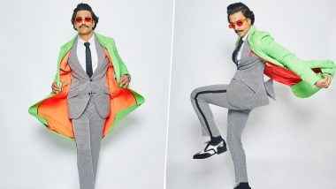 Ranveer Singh Turns a Boring Grey Suit into a Funky Outfit With a Neon Jacket in New Instagram Pictures and Here's What Deepika Padukone Has to Say!