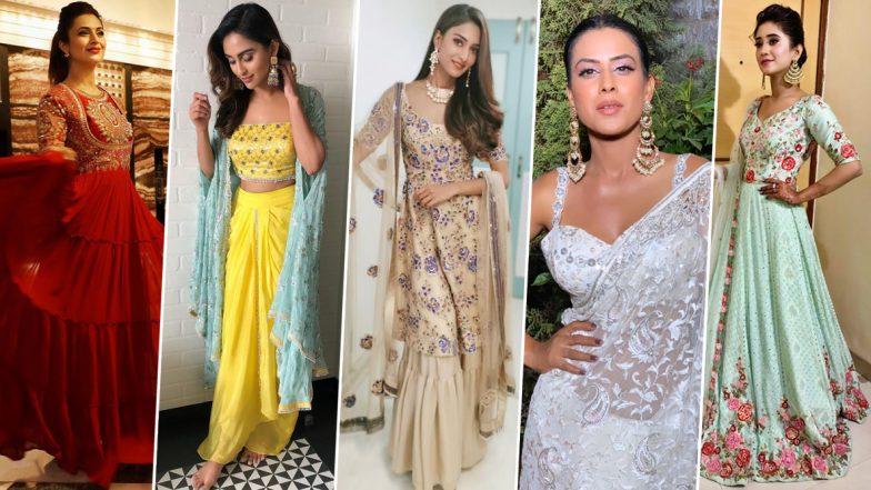Diwali Fashion 2019: Nia Sharma, Erica Fernandes, Divyanka Tripathi, Shivangi Joshi and Krystle D'Souza Show Us How to Ace Ethnic Wear Game (View Pics)