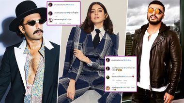 Anushka Sharma Give Fashion Goals with Her Formal Boss Lady Look Leaving the Gunday Duo Ranveer Singh and Arjun Kapoor Clean Bold