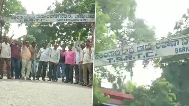 TSRTC Strike: APSRTC Calls Strike in Andhra Pradesh on Sunday to Express Solidarity With Telangana Road Transport Corp Employees