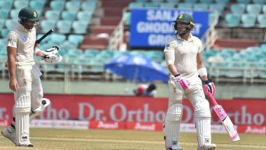 India vs South Africa 2nd Test 2019: Faf Du Plessis Leads Protea's Resilience with a Fighting Half-Century, Hosts Still Ahead by 418 Runs at Tea on Day 3