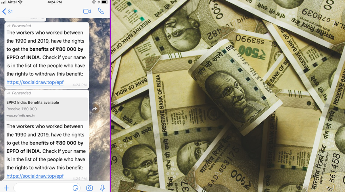 EPFO Giving Rs 80,000 to Workers Who Worked Between 1990 And 2019? Know Truth About Viral WhatsApp Message