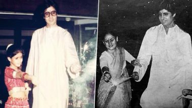 Amitabh Bachchan Wishes Fans a Happy Diwali, Shares Memorable Throwback Pics with Wife Jaya and Daughter Shweta