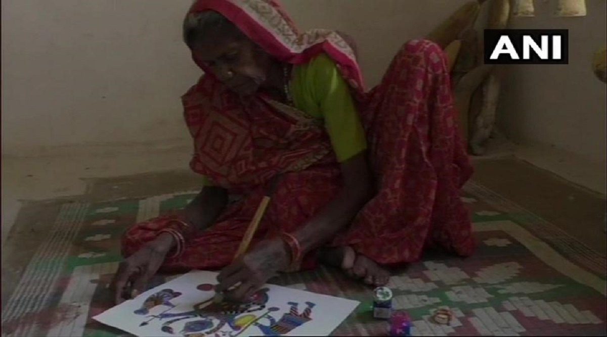 Madhya Pradesh: Paintings of 80-Year-Old Tribal Woman Jodhaiya Bai Baiga From Umaria on Exhibition at Milan in Italy