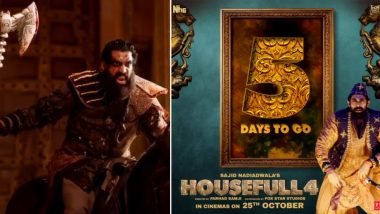 Housefull 4 Motion Poster: Rana Daggubati's Baddie Goes from Being a Wicked Warrior to Pappu Rangeela in This Reincarnation Comedy (Watch Video)
