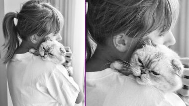 Taylor Swift Celebrates National Cat Day by Sharing an Adorable Monochrome Pic with Her Pet