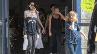 Angelina Jolie Shops with Kids at a Discount Store As She Takes a Day Off from Marvel's 'The Eternals' Shoot