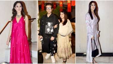 Manish Malhotra Diwali Party: Karan Johar, Nushrat Bharucha, Ekta Kapoor Attend the Designer's Festive Bash (View Pics)