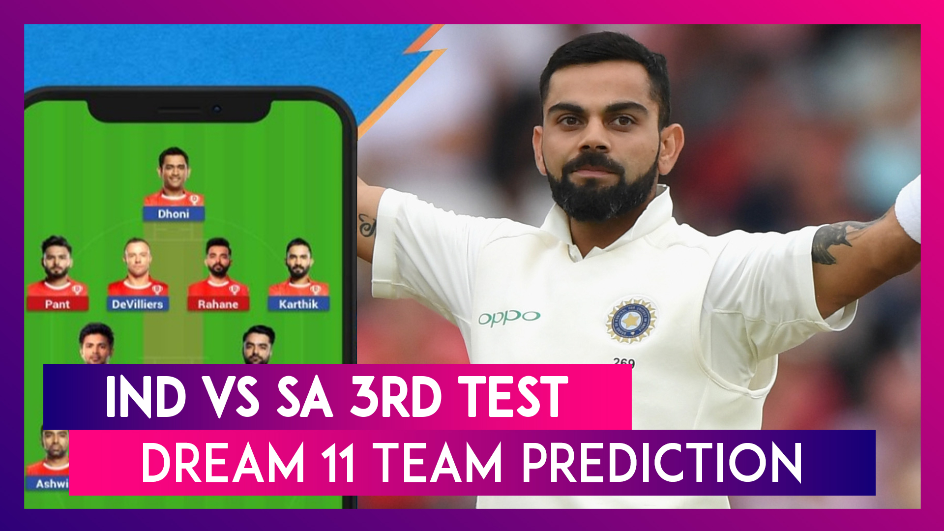 India vs South Africa 3rd Test Dream 11 Team Predictions