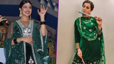 Fashion Face-Off! Priyanka Chopra or Taapsee Pannu, Whose Festive Look in Green Would You Choose for Navratri 2019?