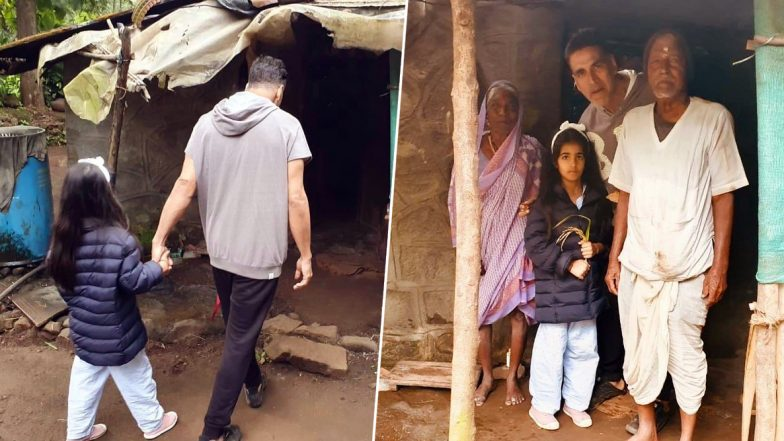 Akshay Kumar Teaching 'Act of Kindness' to Daughter Nitara Receives Equal Appreciation and Criticism from Twitterati  - Check out Tweets