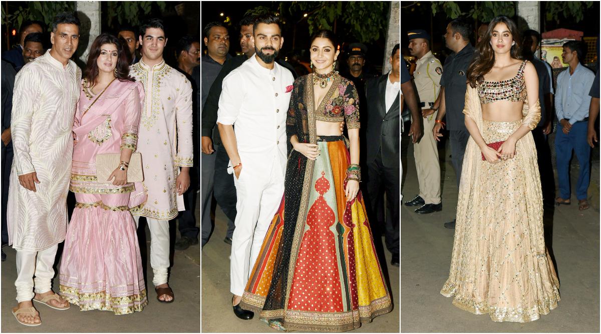 Diwali 2019: Akshay Kumar, Anushka Sharma, Virat Kohli, Janhvi Kapoor and Other Celebs Attend Amitabh Bachchan's Bash (View Pics)