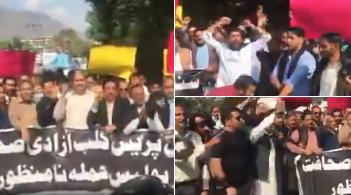 PoK journalists Stage Protests Against Pakistan Security Forces, Demand Freedom of Press (Watch Video)