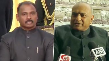 Girish Chandra Murmu Takes Oath as First Lieutenant Governor of Jammu And Kashmir, RK Mathur Becomes L-G of Ladakh
